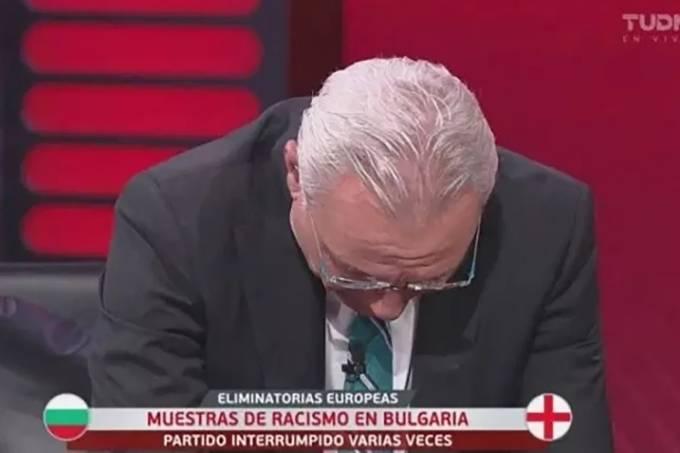 Stoichkov, de 53 anos, se emocionou ao comentar o caso na TV mexicana
