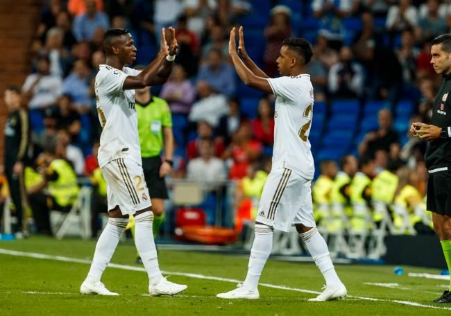 Vinícius Junior e Rodrygo Goes, do Real Madrid