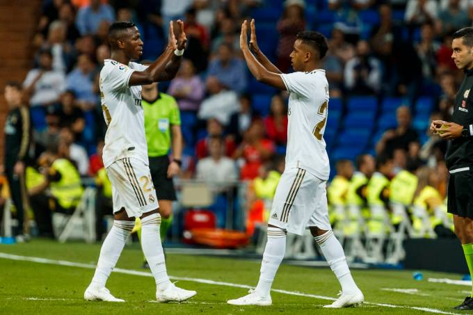 Vinícius Junior e Rodrygo Goes, do Real Madrid