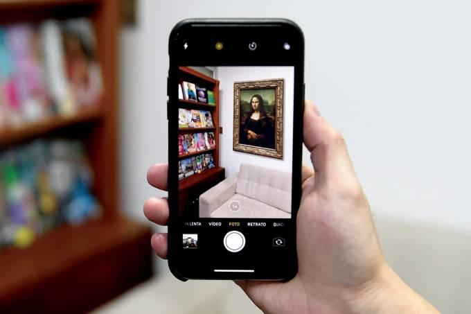 Mona Lisa em realidade aumentada