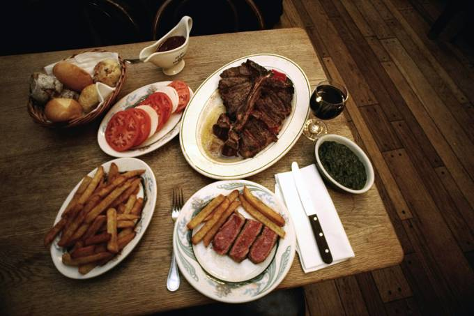 Peter Luger's Steak House, 178 Broadway, Brooklyn.