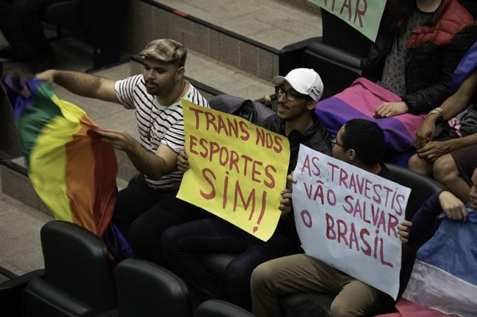Protesto Atletas Trans Alesp