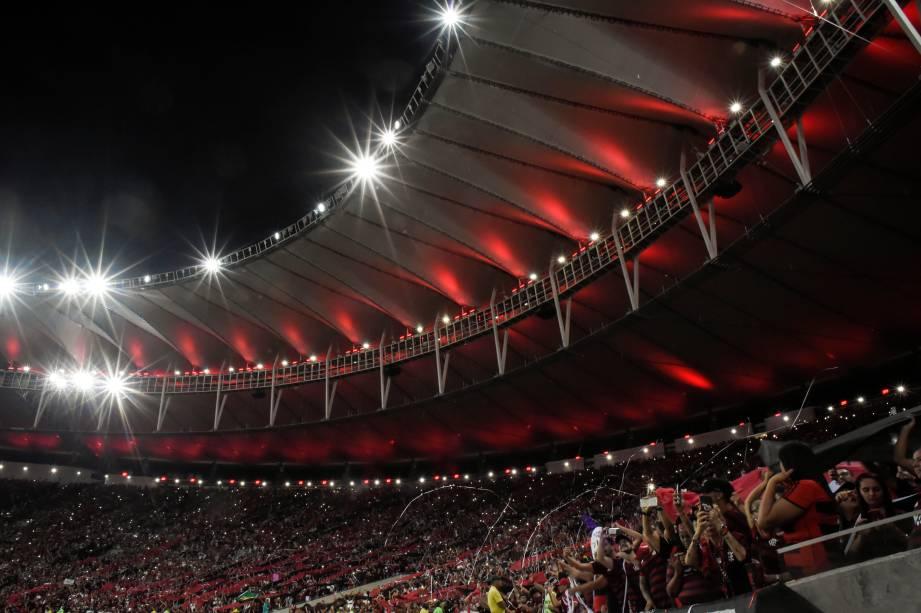 Torcida do Flamengo durante semifinal contra o Grêmio, no Maracanã