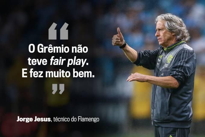 Jorge Jesus, técnico do Flamengo, sobre atitude do adversário da semifinal
