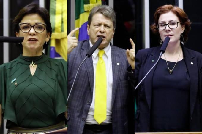 Alê Silva, Bibo Nunes e Carla Zambelli