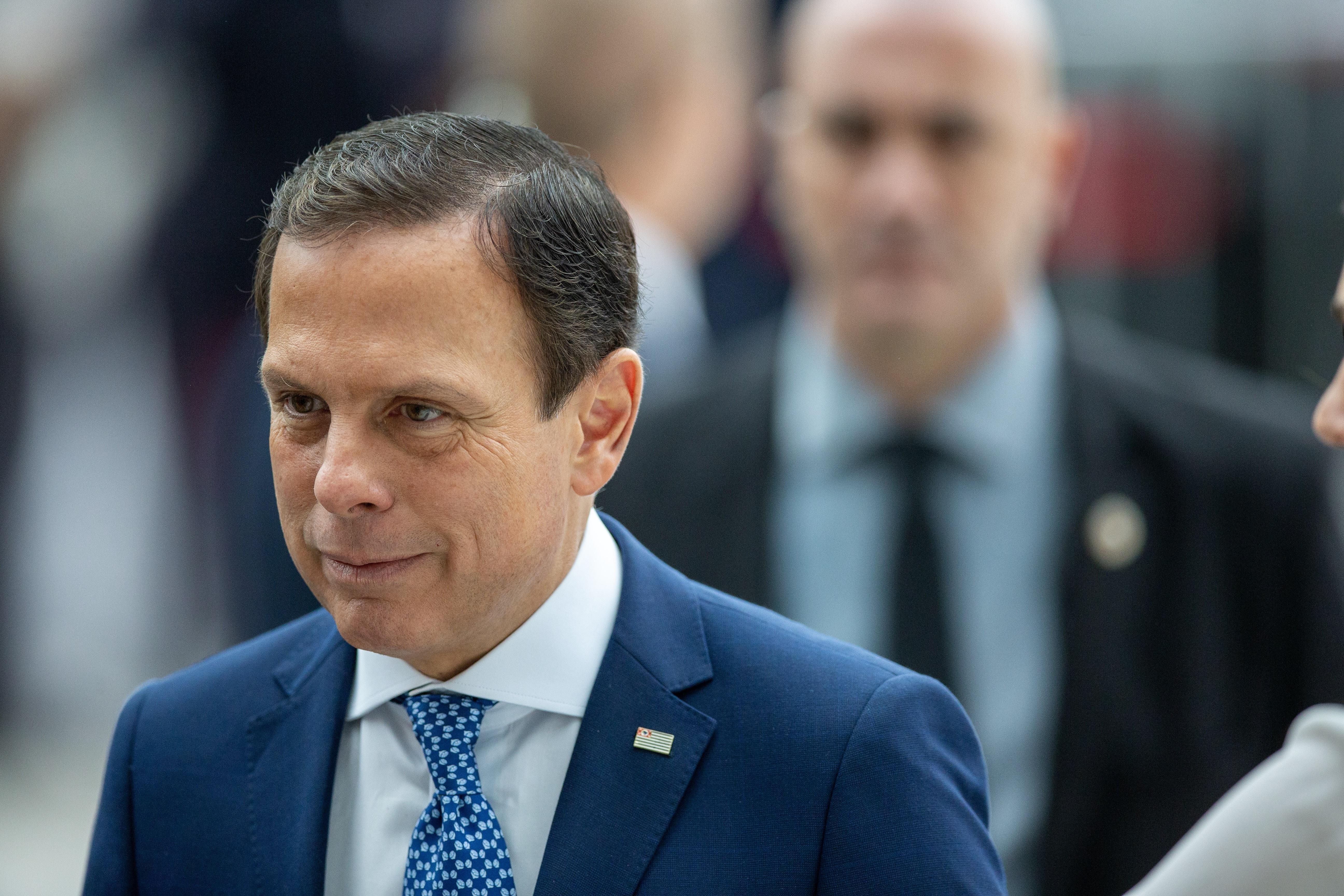 Governador de São Paulo, João Doria, chega ao velório do apresentador Gugu Liberato