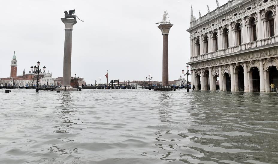 Praça San Marco foi fechada nesta sexta-feira - 15/11/2019