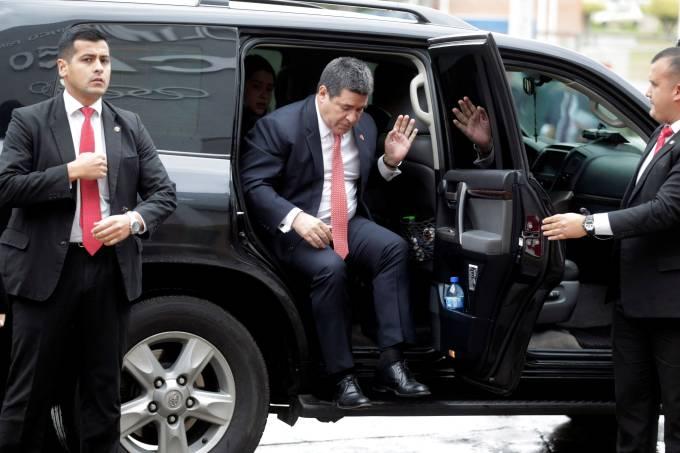 Ex-presidente paraguaio Horacio Cartes em Luque