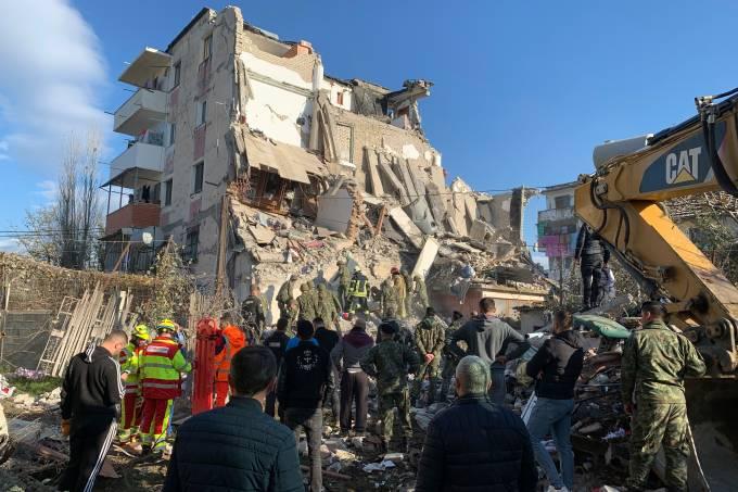 APTOPIX Albania Earthquake