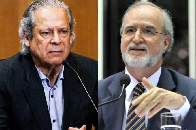 O ex-ministro José Dirceu e o ex-governador Eduardo Azeredo