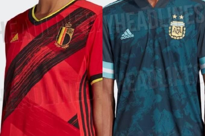 Camisas de Bélgica e Argentina para 2020