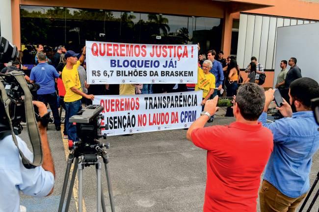 PROTESTO - Ato realizado em maio: críticas à petroquímica