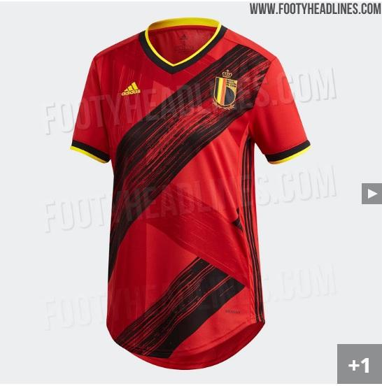 Nova camisa da seleção da Bélgica