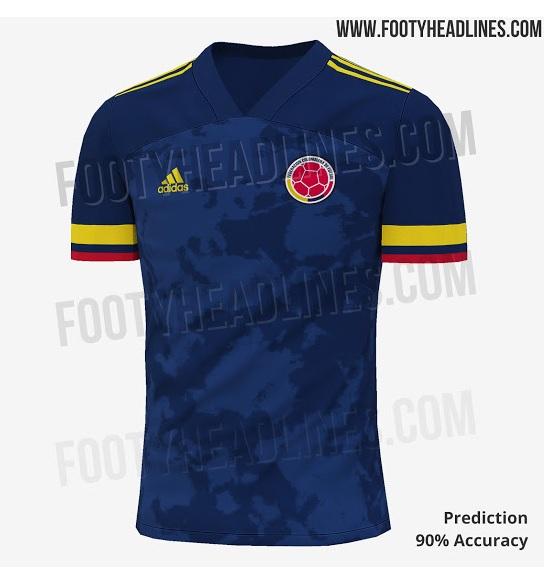 Nova camisa da seleção da Colômbia