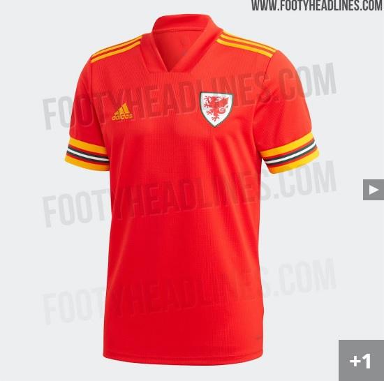 Nova camisa da seleção de Gales