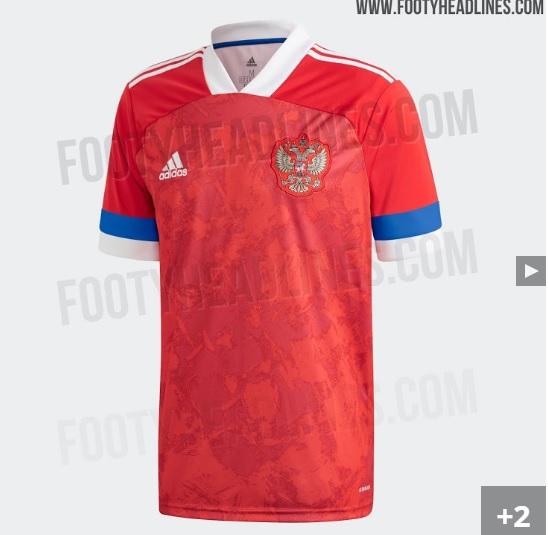 Nova camisa da seleção da Rússia