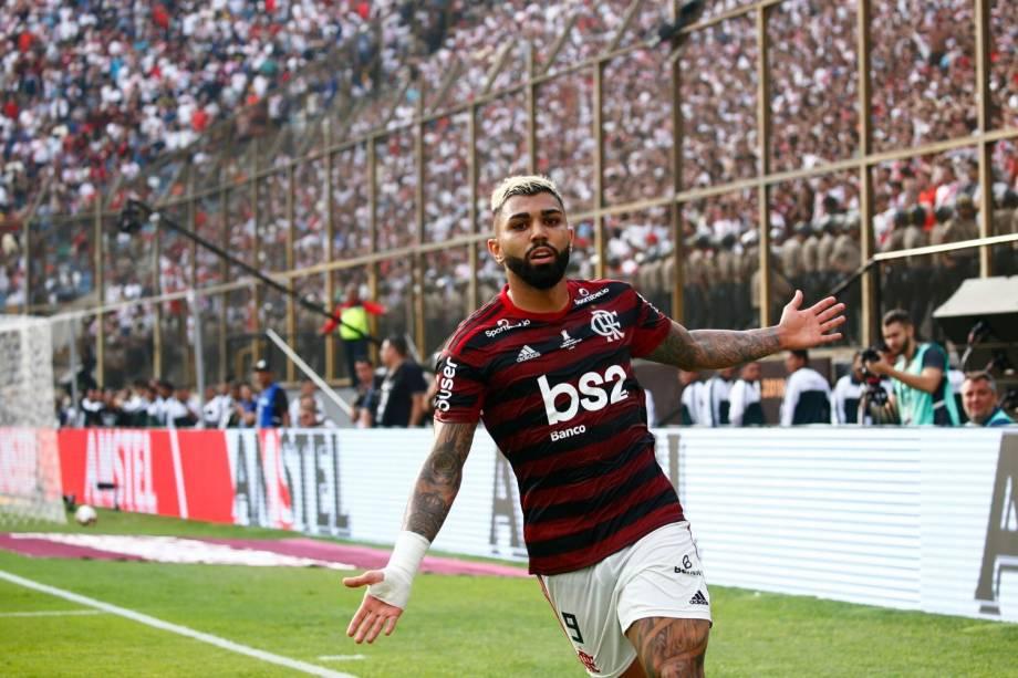 O camisa 9 foi eleito o jogador da partida. Não era para menos: marcou os dois gols que garantiram o bicampeonato da Libertadores para o Flamengo