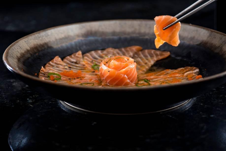 Carpaccio de salmão: R$ 79,00