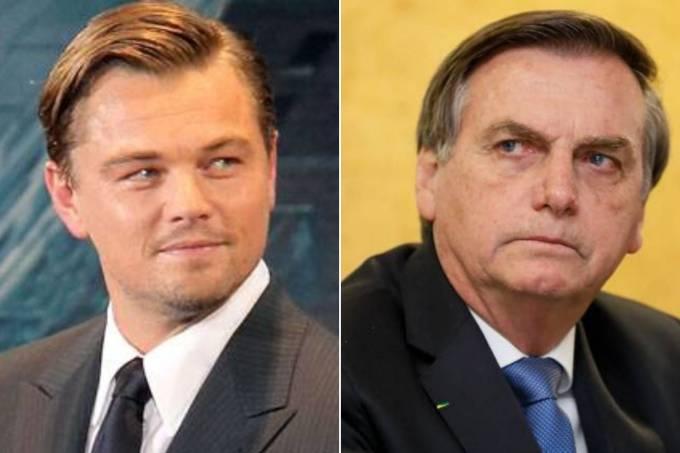 Leonardo DiCaprio e Jair Bolsonaro
