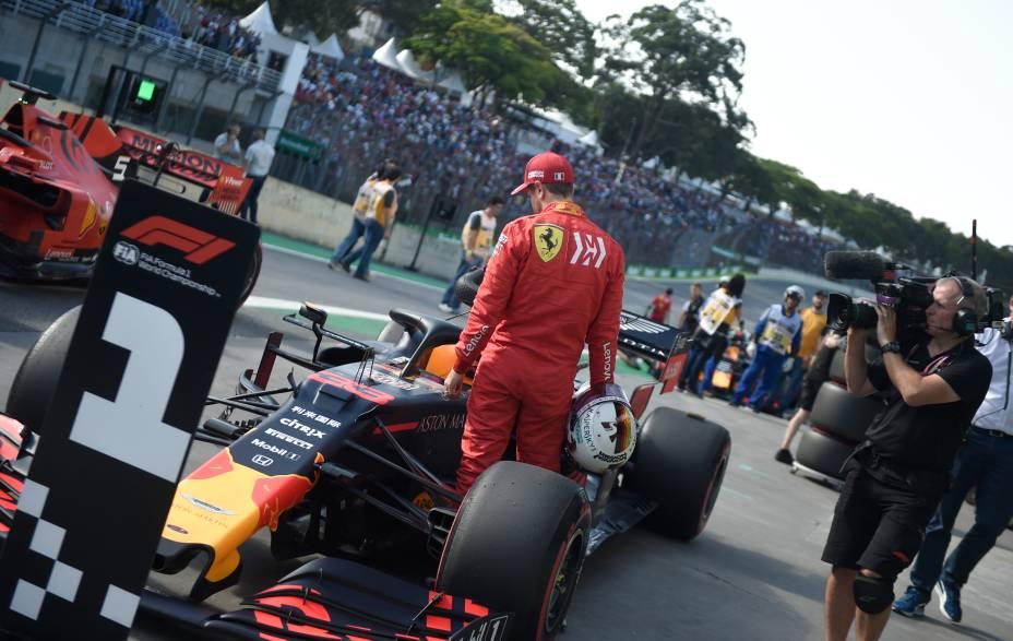 Treino classificatório para o GP Brasil de Fórmula 1, no Autódromo de Interlagos
