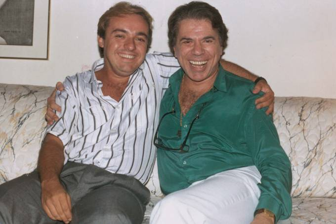 Gugu Liberato com Silvio Santos. 1988CrÈdito: JUVENAL PEREIRA