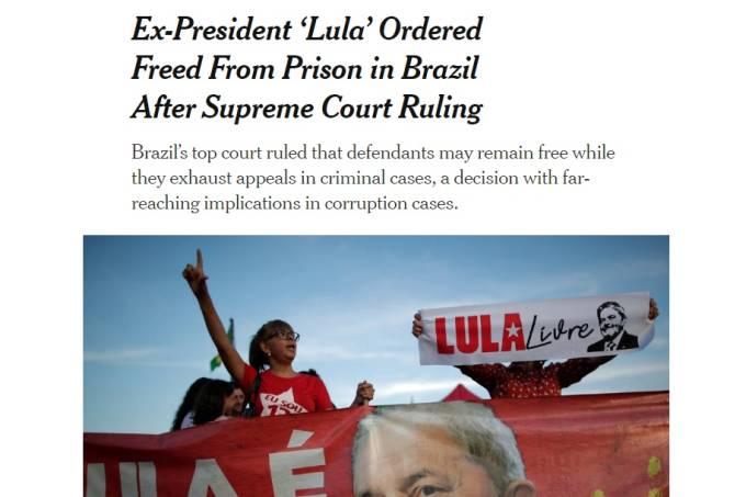Lula – NY Times