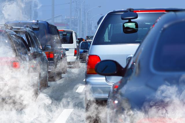 Carros poluição