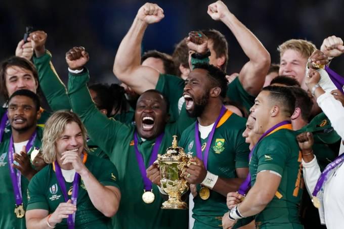 África do Sul campeã mundial de rúgbi