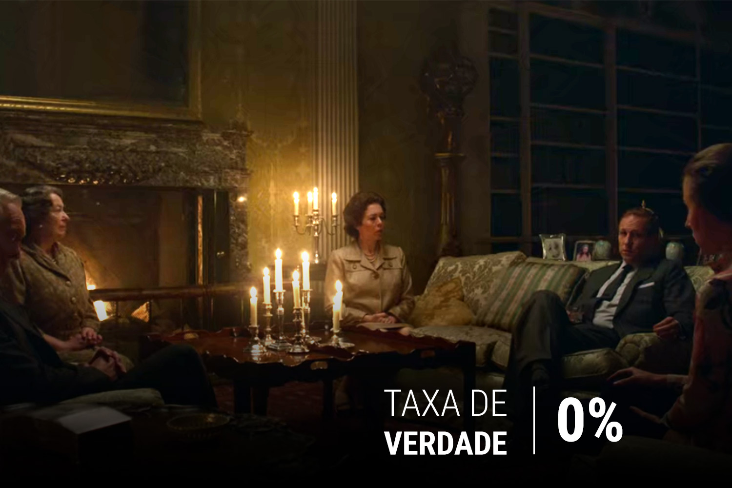 Cena da série 'The Crown'