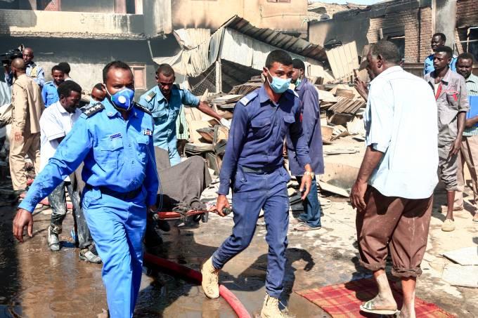 Incêndio Sudão
