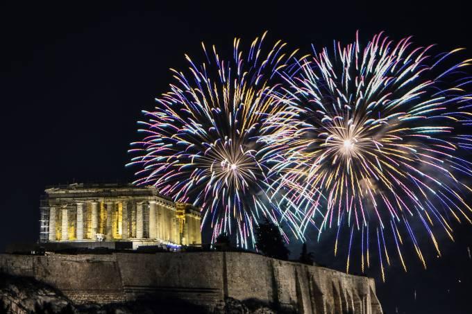 Grécia: virada 2020 em Atenas