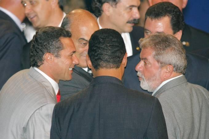Vanderlei Luxemburgo e Lula, em festa do Paulistão de 2006