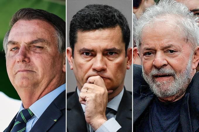 Bolsonaro, Moro e lula