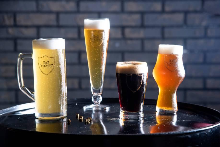 Chope Weizen, chope lager, black ipa e american pale ale: variedades da carta campeã