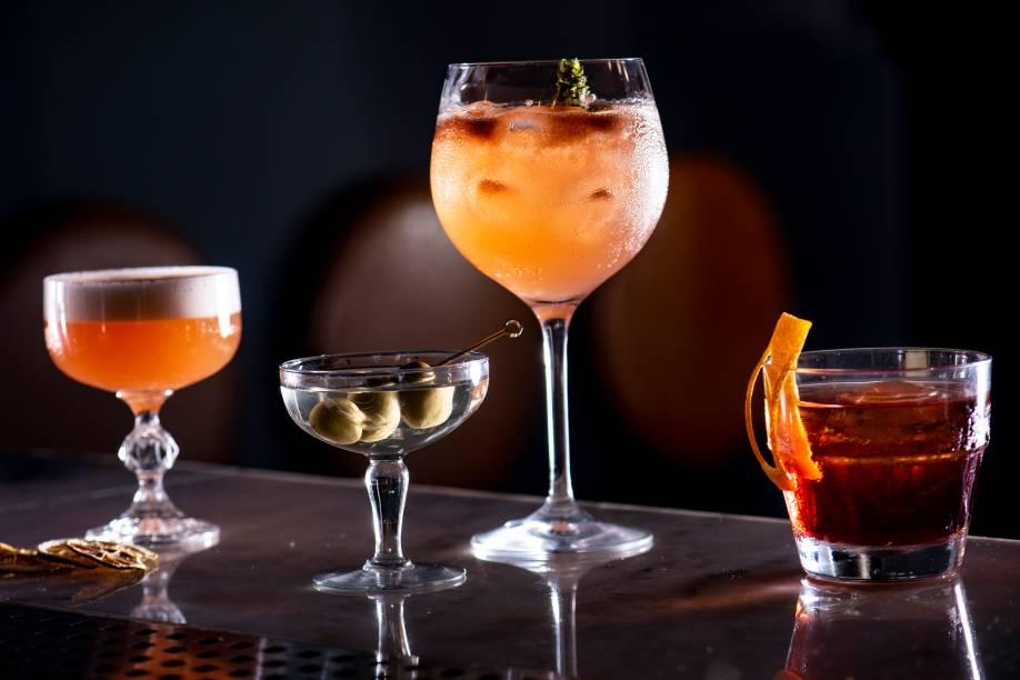 Leonard, dry martini, black soul e negroni: sucessos do bar campeão