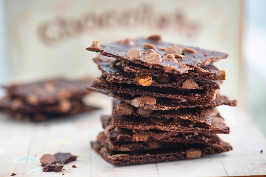 O sucroc: casquinha feita de massa de brownie