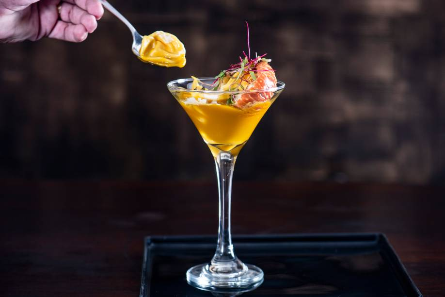Capelete de lagosta ao molho de aipo, requeijão e abóbora: R$ 59,00