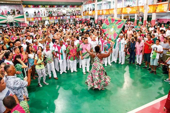 Ensaio da escola de samba Mangueira
