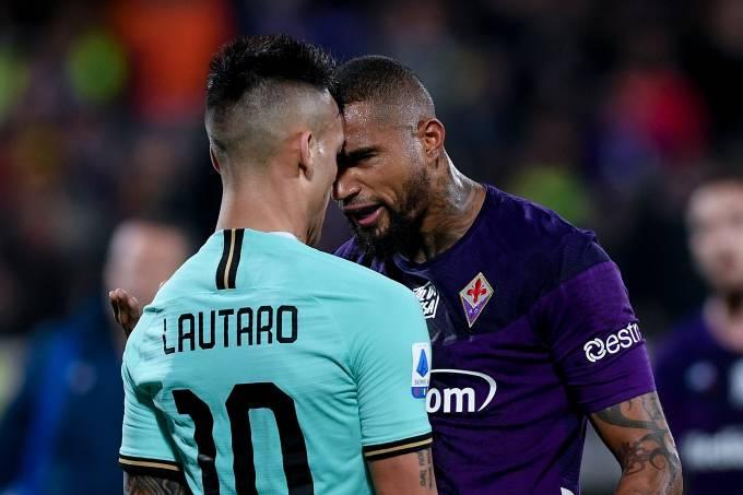 Lautaro Martínez discutiu com Boateng no empate em Florença