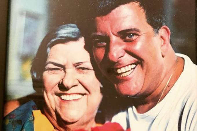 A atriz Hilda Rebello com o filho, o diretor Jorge Fernando