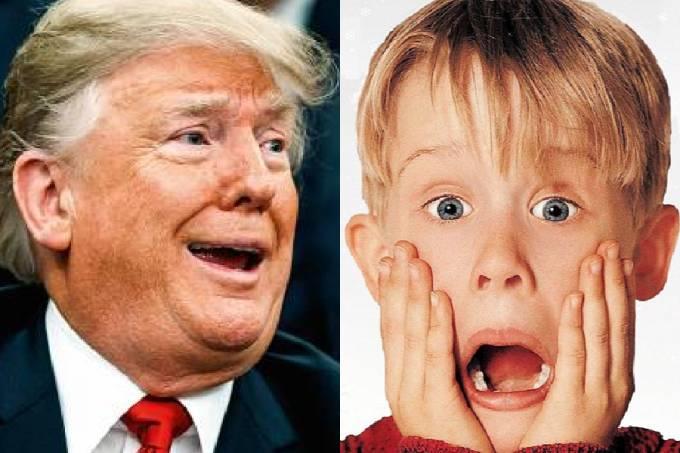 Donald Trump e o ator Macaulay Culkin