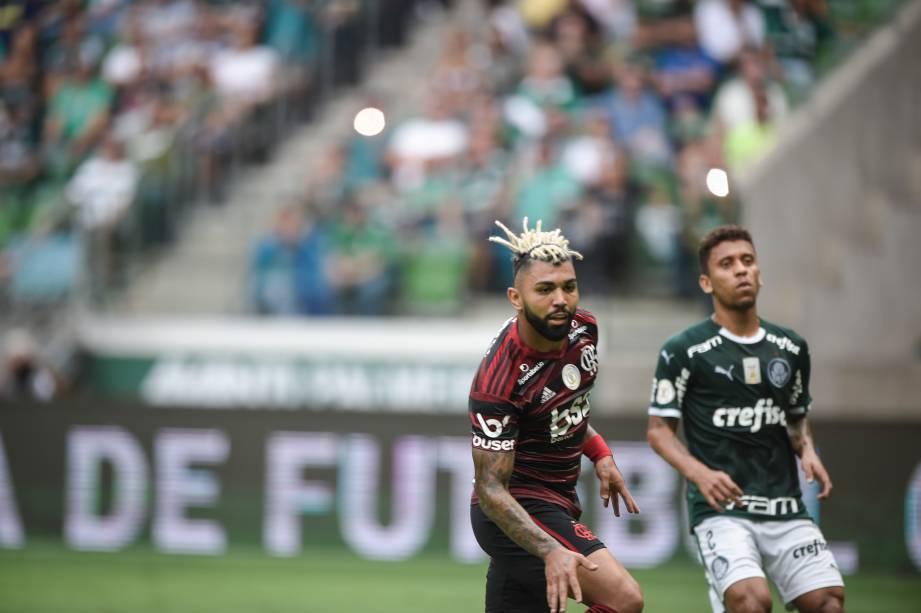 Gabigol ao marcar o segundo gol do Flamengo na partida