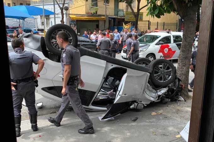 Perseguição policial e capotamento na Avenida Faria Lima – 10/12/2019