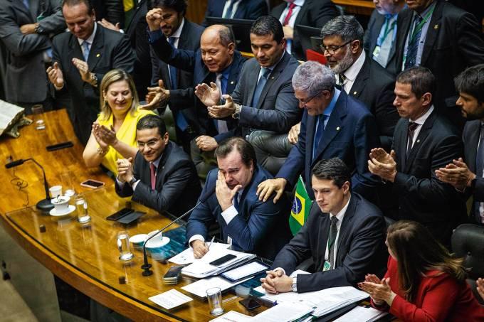 REFORMA-DA-PREVIDENCIA-RODRIGO-MAIA-CHORANDO-VOTACAO-2019
