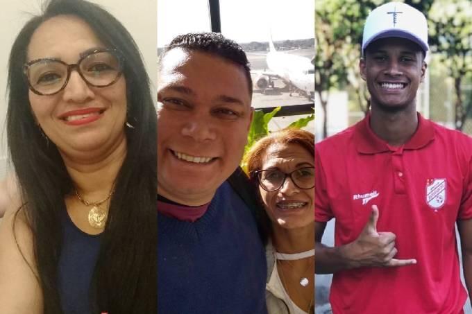 Jucelina Santos, o casal Lucineide Goes e Edilson Donizete e Eric Miguel