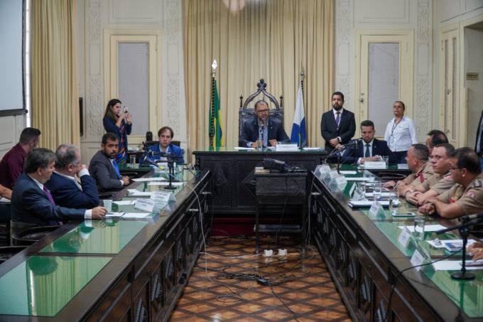 Reunião da CPI na Alerj