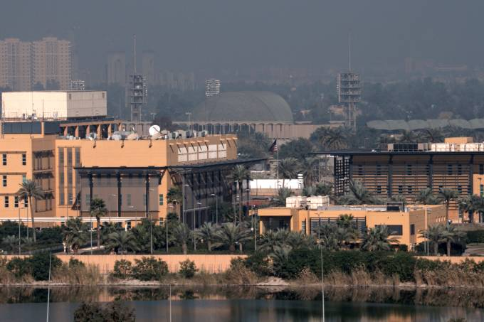 A general view of the U.S. Embassy at the Green zone in Baghdad