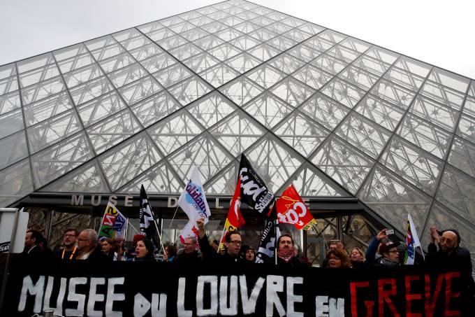 Museu Louvre Greve França