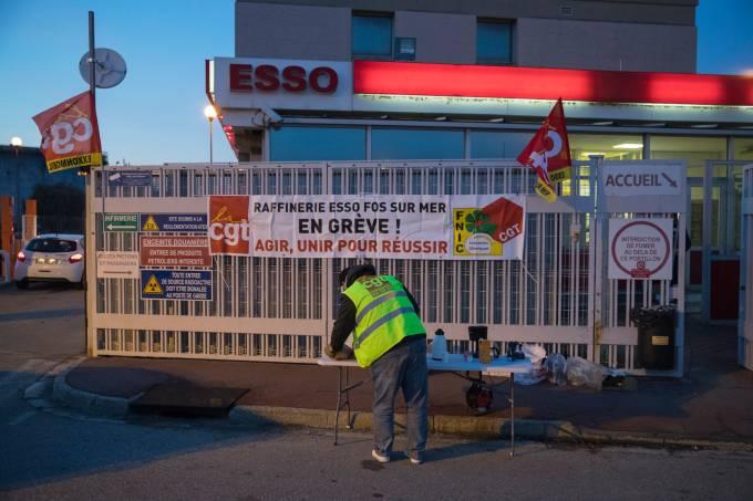 Greve França Reforma Previdência