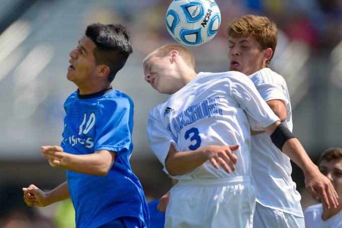 Tuscarora plays Blacksburg in the boys Virginia AA state soccer semifinals